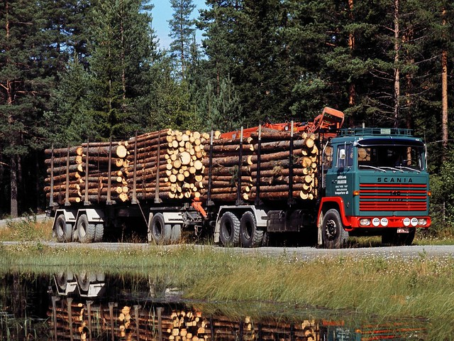 Лесовоз Scania LBT140 Timber Truck. 1968 – 1972 годы