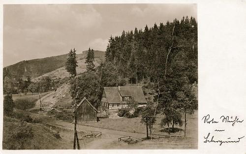 Rote Mühle im Bibergrund / postcard