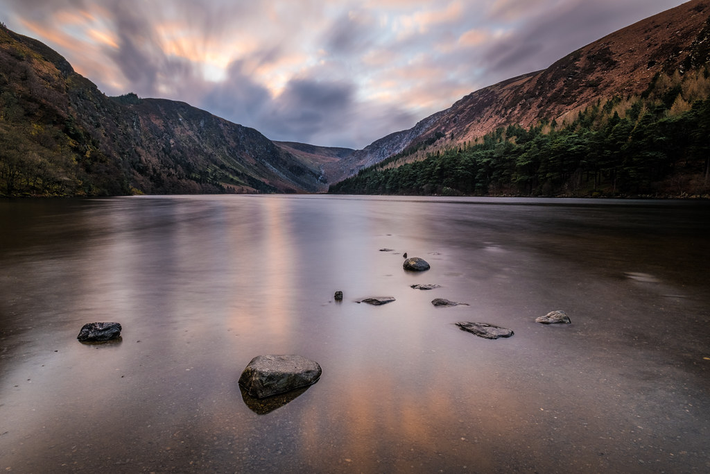 Sunset in Glendalough, Wicklow, Ireland picture