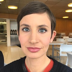 My work paid for me to have a human makeup app come douse my face for a headshot.