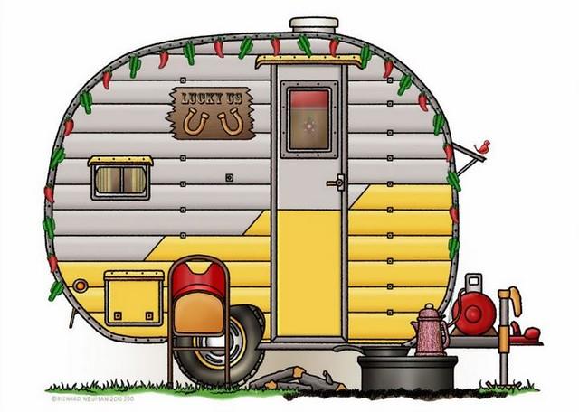 Whimsical Little Western Travel Trailer