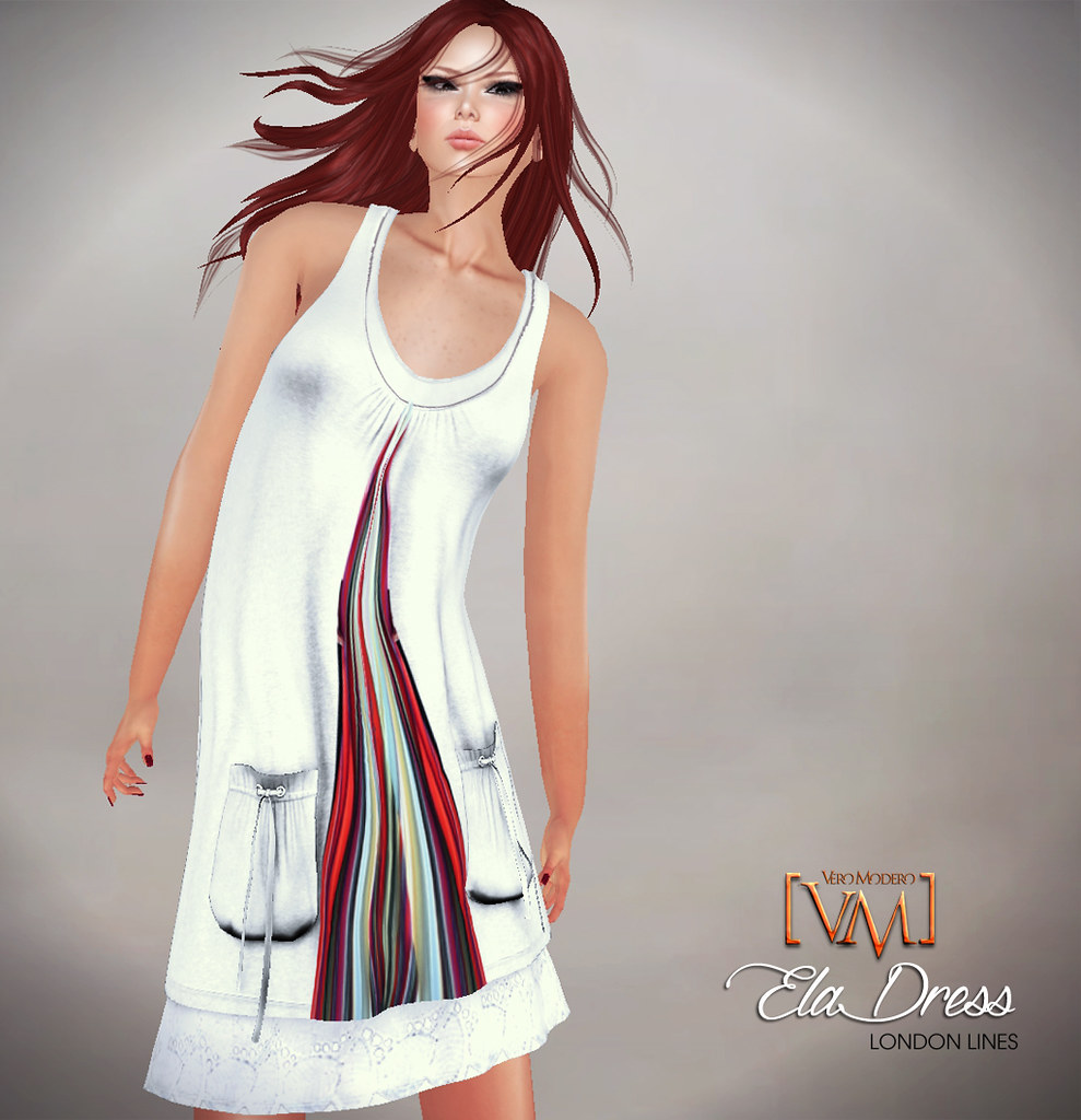 [VM]  VERO MODERO Ela Dress London Lines