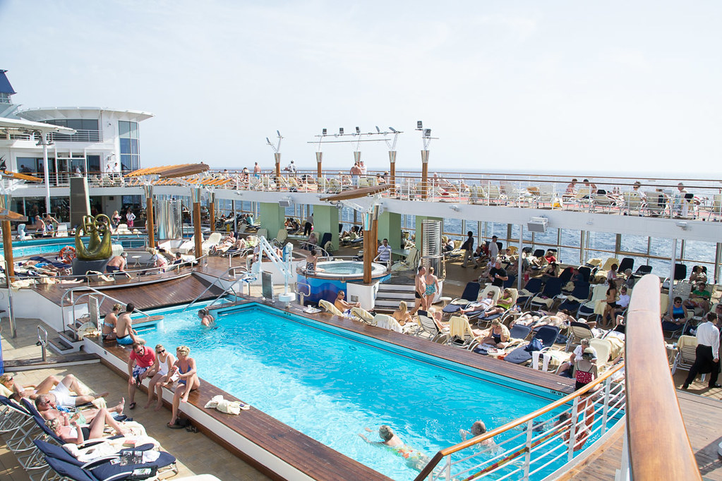 Pool area on Celebrity Constellation