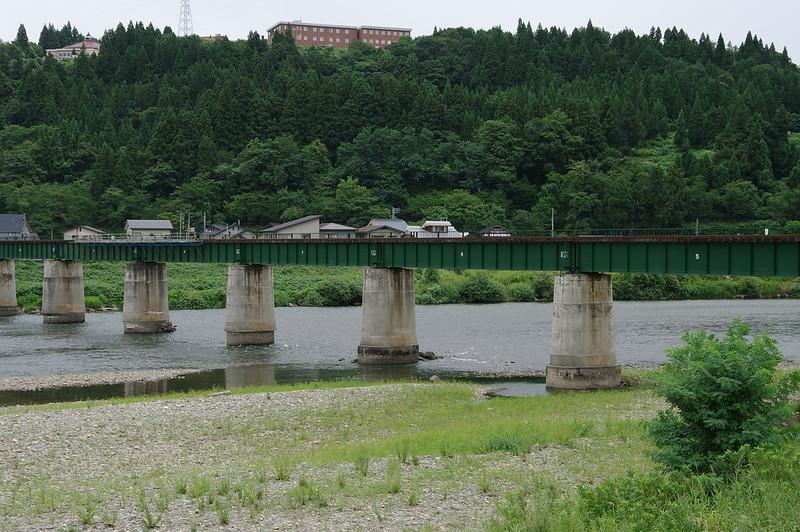 鉄橋と魚野川_201508_NO1
