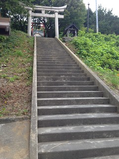 rebun-island-itsukushima-shrine-stairs