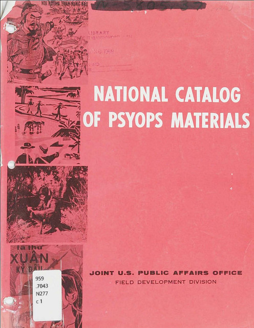 National Catalog of PSYOPS Materials