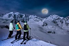 Engadin Sv. Mořic Corvatsch– nejdelší sjezdovka pro noční lyžování ve Švýcarsku