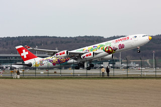 """Swiss International Air Lines Airbus A340-313 HB-JMJ """" """"San Francisco"""" special livery"""""""