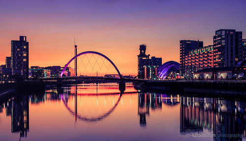 Sunset Over the River Clyde (Glasgow)