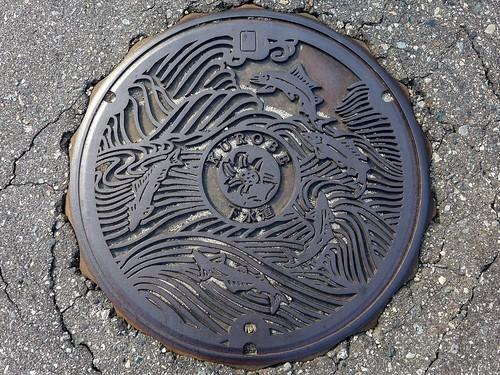 Kurobe Toyama, manhole cover (富山県黒部市のマンホール)