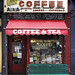 """Auggie's Coffee in the South Village or what is now known as SoHo from our upcoming book """"Store Front II: A History a Preserved"""" by James and Karla Murray Photography"""
