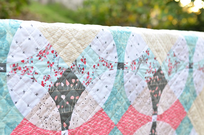 wonderland flowering snowball quilt