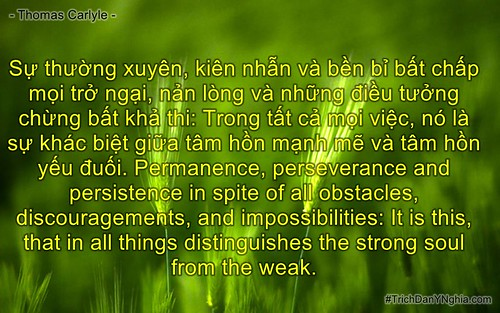 Sự thường xuyên, kiên nhẫn và bền bỉ bất chấp mọi trở ngại, nản lòng và những