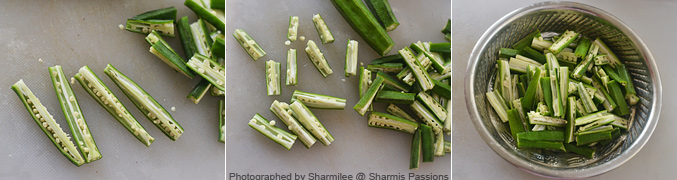 How to make Kurkuri Bhindi Recipe - Step1
