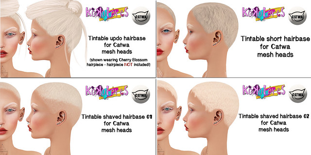 [KoKoLoReS] Hairbase appliers for Catwa mesh heads