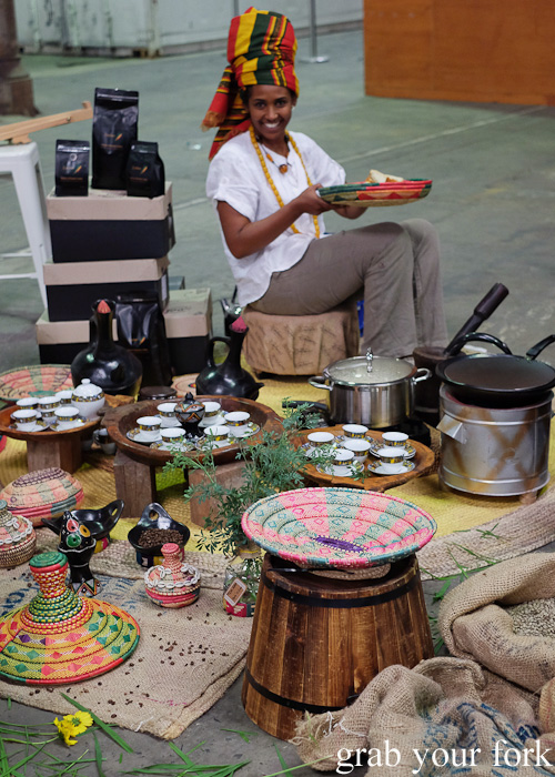 Ethiopian coffee ceremony at Rootstock Sydney 2015