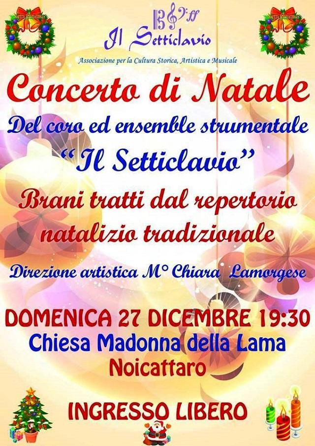 Noicattaro. Concerto Setticlavio Natale intero 1