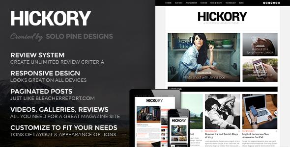ThemeForest Hickory v2.0.5 - WordPress Magazine Theme