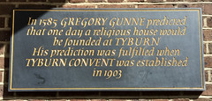 Photo of Gregory Gunne and Tyburn Convent black plaque