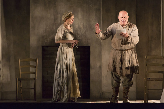 Barbara Hannigan and Christopher Purves in Written on Skin, The Royal Opera © ROH 2016. Photograph by Stephen Cummiskey
