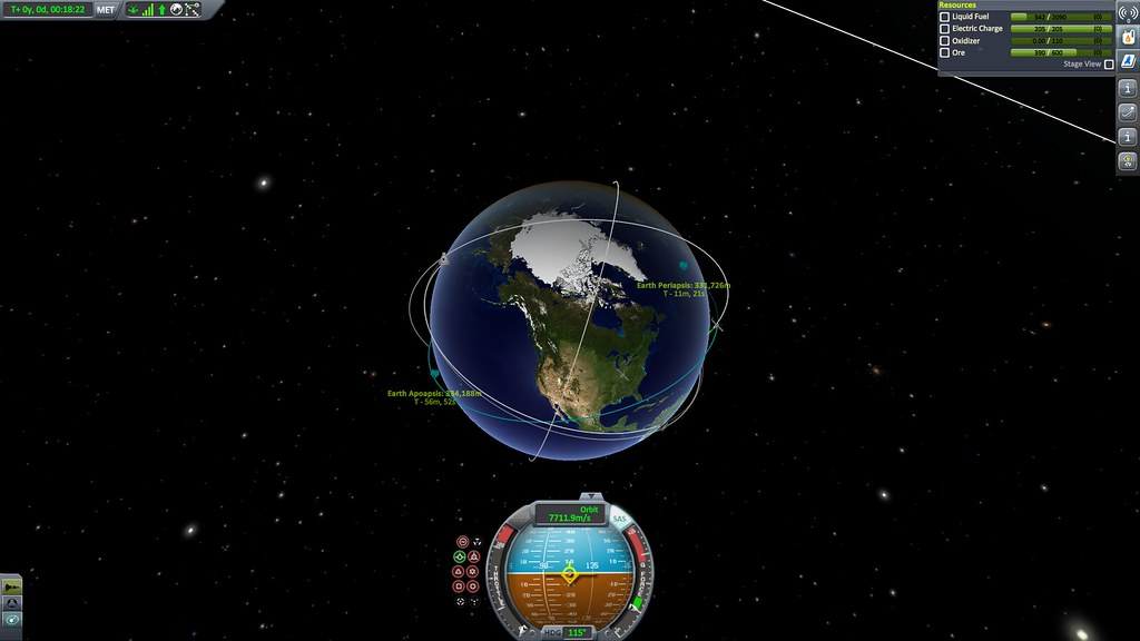 Upper stage and payload delivered to orbit!
