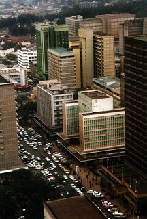 Nairobi from top of Kenyatta Building