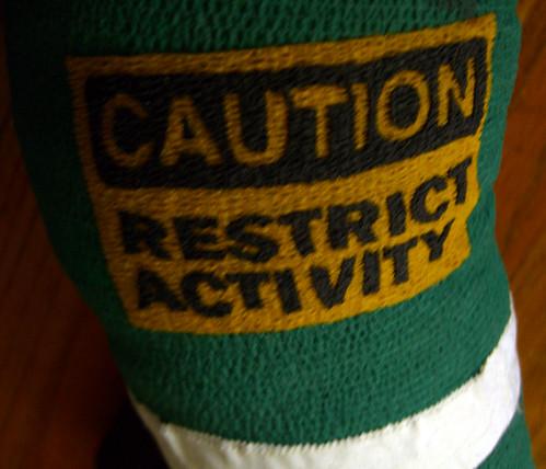 DJ's knee sticker