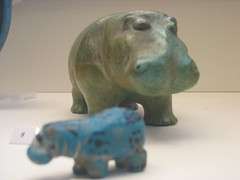 Hippopotamus, Egyptian Paste Pottery, The British Museum, Bloomsbury. London