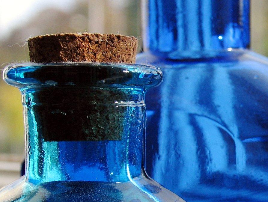 Blue bottles...