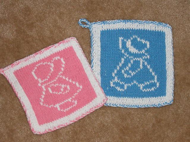 Knitting Pot Holder Patterns Free : Knitted pot holders Flickr - Photo Sharing!