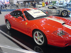 automobile, ferrari 550 maranello, vehicle, performance car, automotive design, ferrari 550, auto show, ferrari 575m maranello, land vehicle, luxury vehicle, supercar, sports car,