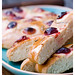 focaccia and fruit