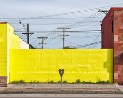 yellow wall. culver city, ca. 2004.