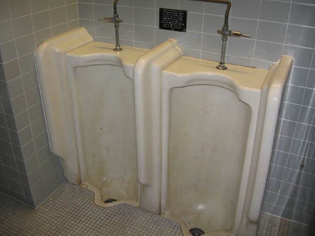 The two Hinsdale urinals in Architecture Hall on UNL's campus can only be ...