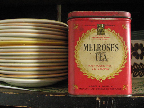 melrose's tea tin