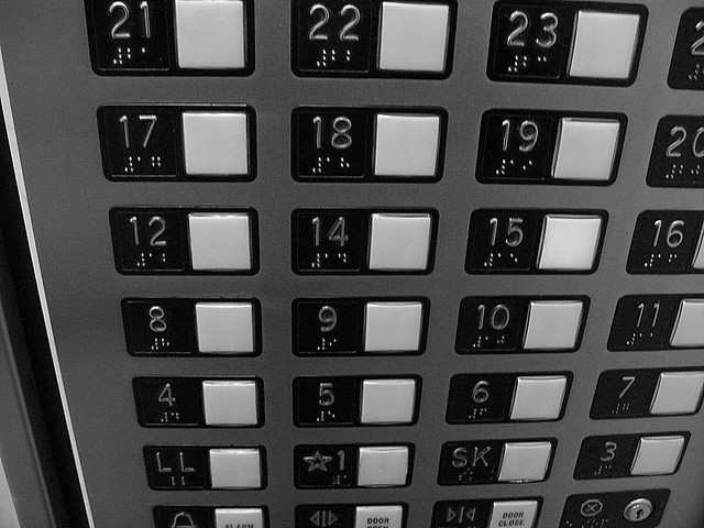 Elevators are unlucky my building has 26 floors but for 13th floor superstition