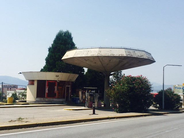 Gas station near Kravice