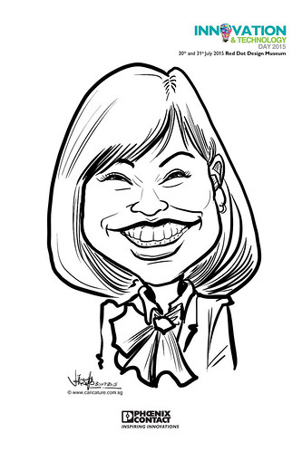 digital live caricature for Innovation & Technology Day 2015 - 2