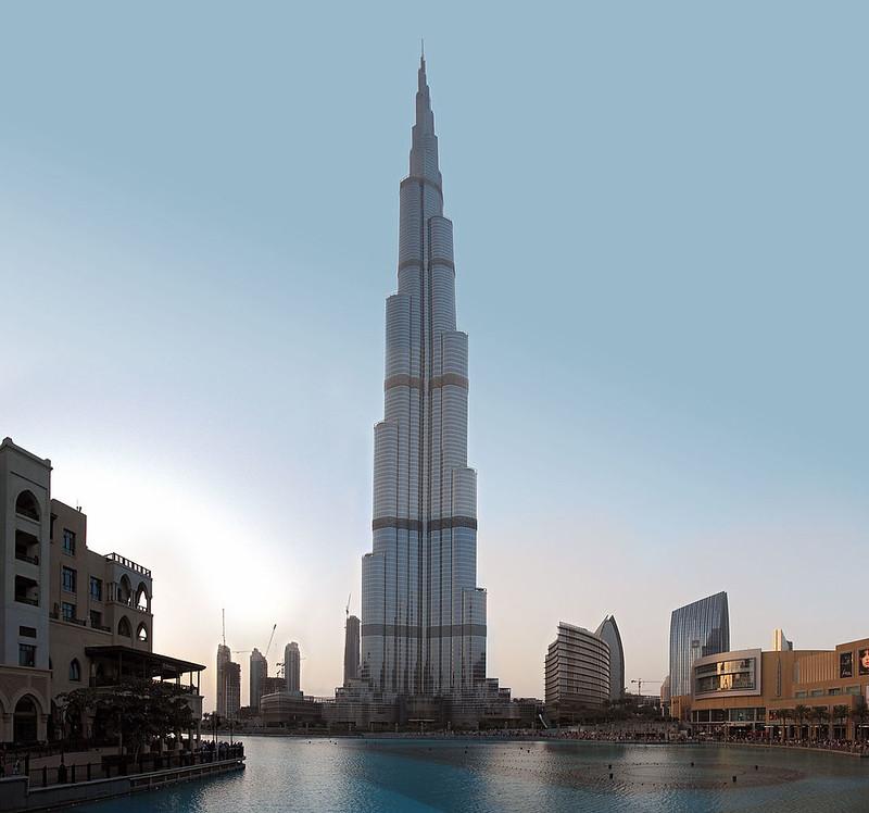 The Burj Khalifa in February 2012