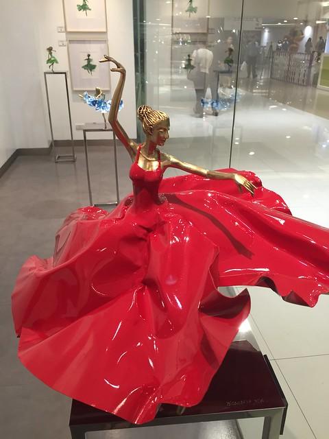 red ballerina by Ferdinand Cacnio