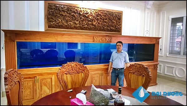 Hồ cá rồng siêu khủng dài 5m
