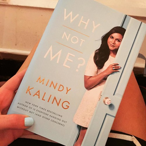 Didn't intentionally match my nail polish to the cover, but I am super excited to read @mindykaling's new book.