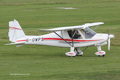 G-OWPS - 2014 build Comco Ikarus C42 FB100 Bravo, vacating Runway 08L on arrival at Barton
