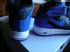 "Nike Air Force 1 Mid '07 ""Royal"" Size 10.5 Black/Game Royal-White 315123 027 NEW"