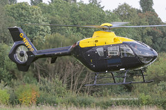 G-NWPS - 1998 build Eurocopter EC135T-1, inbound to Barton for a re-fuel