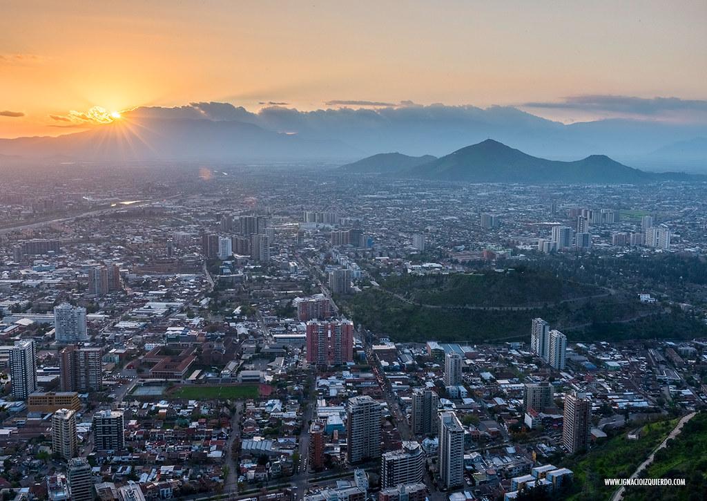 Sunset over Santiago de Chile 02