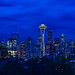Seattle Skyline Blue Hour from Kerry Park by Ken Lane Photography