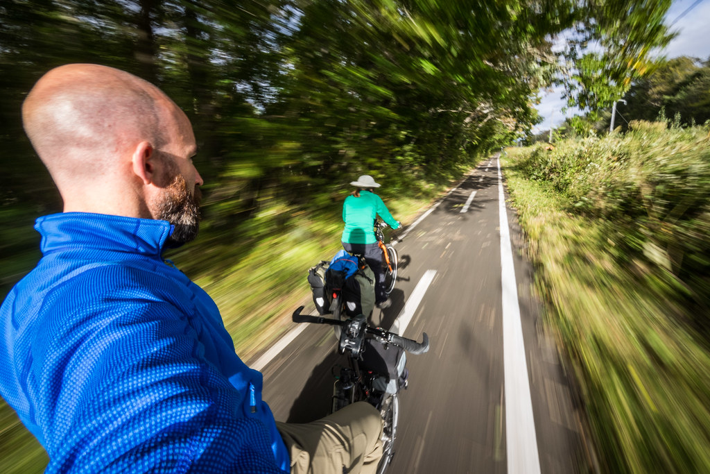 On the Chitose Cycle Path to Lake Shikotsu, Hokkaido, Japan