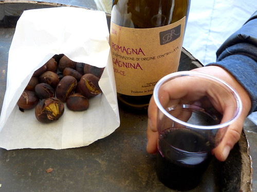 Cagnina and chestnuts