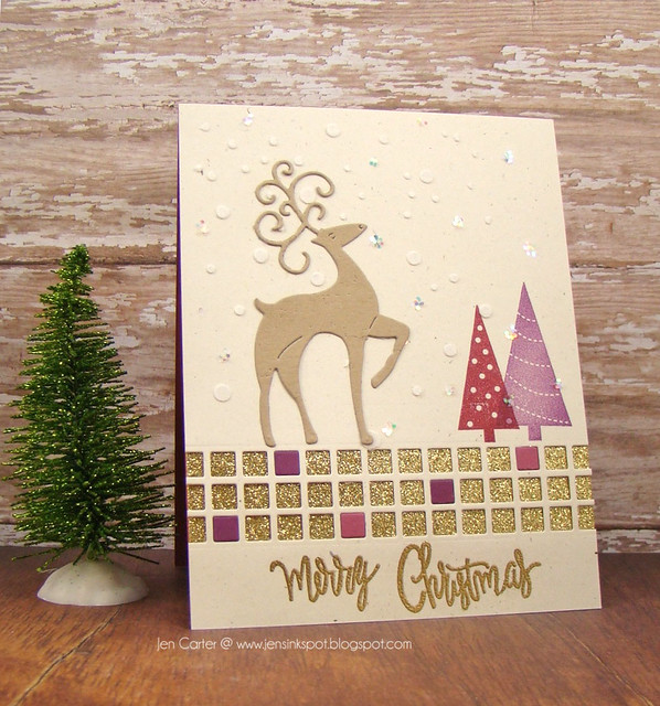 Jen Carter Merry Christmas Deer Side